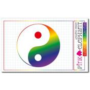 Sticker Rainbow 21 - Yin Yang - Jing Jang - 8,5 x 8,5 cm