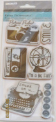 TPC Studio Rubber Cling Stamps - Retro Technology