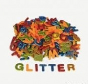 130 Self-Adhesive Glitter Foam Letters