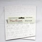 WHITE CLOUDS CHIPBOARD ALPHABET STICKERS Megan Elizabeth New