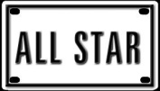 All Star 5.7cm X 10cm Aluminium Die-cut Sign""