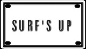 Surf's Up 5.7cm X 10cm Aluminium Die-cut Sign""