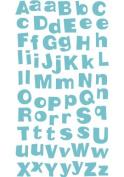 Turquoise Heirloom Alpha Glitter Scrapbook Stickers