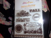 """Pink Paislee Impressions Clear Stamps """"Amber Road"""""""