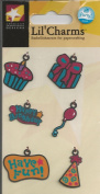 Birthday Have Fun Metal Charms for Scrapbooking