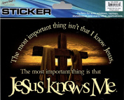 Jesus Knows Me Auto Car Decorative Sticker