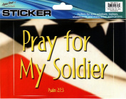Pray For My Soldier Psalm 27:3 Auto Car Decorative Sticker
