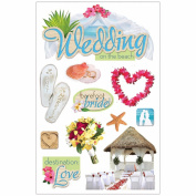 3D Sticker 11cm x 18cm Sheet-Beach Wedding