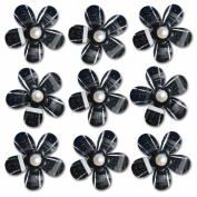 Pearl Blossoms 9/Pkg-Black