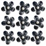 Pearl Blossoms 9/Pkg-Black