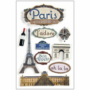 Paper House 3-D Sticker-Paris