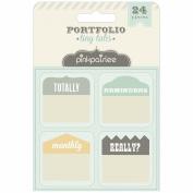 Portfolio Tiny Tabs 24/Pkg-