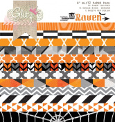Glitz Design Raven 15cm by 15cm Paper Pad with 24 Designs, 12 Double-Sided Designs and 2 Sheets Per Design