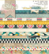 Glitz Design Uncharted Waters 15cm by 15cm Paper Pad with 24 Designs, 12 Double-Sided Designs and 2 Sheets Per Design