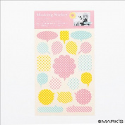 Japanese Washi Masking Sticker Sheet- Balloon 19 Pcs
