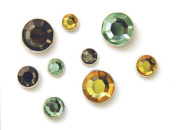 Karen Foster Design Sparkle Brads Rhinestone Embellishments, 24 Love Colours
