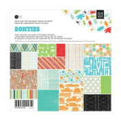 BasicGrey Bow Ties Collection Scrapbook Paper Pad, 15cm by 15cm