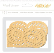 Studio Calico 10-Piece Wanderlust Wood Veneer Large Bold Numbers Embellishments