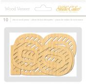 Studio Calico 10-Piece Wanderlust Wood Veneer Large Bold Numbers Embellishments