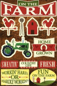 Reminisce Signature Series Farm Dimensional Scrapbook Stickers