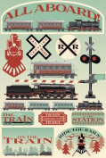 Reminisce Signature Series Train Dimensional Scrapbook Stickers