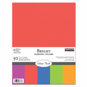 The Paper Company, P62504, Bright Cardstock Value Pack, 8-1/2 by 11