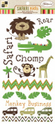 DCWV CP-012-00057 Rub on Boy Safari Kids Glitter