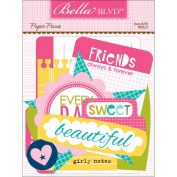 Bella Blvd Molly Paper Piece Die Cut Shape Scrapbook Embellishments