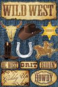 Reminisce Signature Series Western Dimensional Scrapbook Stickers