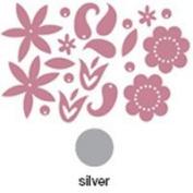 Advantus Corporation Heidi Swapp Chipboard Metallic Shapes , Flowers Silver 20/Package