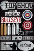 Reminisce Signature Series Top Shot Military Scrapbook Dimensional Sticker