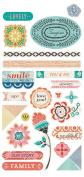Basic Grey Spice Market Chipboard Scrapbook Shape Embellishments