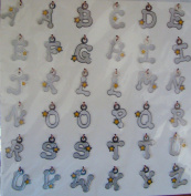 American Traditional Designs Lil' Charms Alphabet Brads - Star - Very Rare
