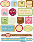 Baby Pop Art Quotes Sticker Accents