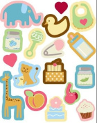 Baby Pop Art Icons Sticker Accents