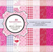 Gina K. Designs 6 X 6 Patterned Paper Pack- Smitten