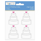 The Paper Company, 2009835, Jewelled Wedding Cakes