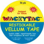 WACKYTAC Restickable Double-Sided VELLUM Tape