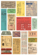 Colour Rubbings 13cm x 18cm Sheet-Tickets