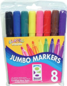 Raymond Geddes, 8 Ct., Jumbo Markers (03626), Pack of 12