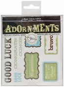 Die Cuts With A View Adornment Good Luck Peel & Stick, 2 Sheets