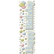 Birthday Title Pastel Epoxy Scrapbook Stickers
