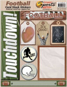 Football Cardstock Scrapbook Stickers