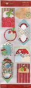 Holiday Joy Diecut Pockets Scrapbook Stickers