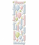 Cloud 9 Rain Dot Dimensional Epoxy Stickers - Birthday