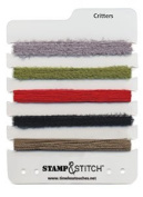 Timeless Touches Stamp & Stitch, Fibre Set - Critters