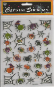 Spiders Glitter Epoxy Scrapbook Stickers