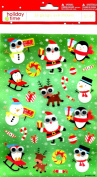 SANTA , RAINDEER, PINGUIN GOOGLE EYE STICKERS