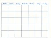 Blank Calendars - 13 Months