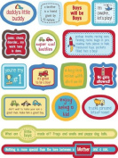 Little Guy Quotes Dimensional Scrapbook Stickers